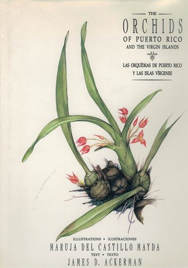 Las Orquideas de Puerto Rico y Las Islas Virgines / The Orchids of Puerto Rico and the Virgin Islands. 1992. approx. 55 watercolour - plates. XVI, 168 p. 4to. Cloth. - Bilingual (English / Spanish).