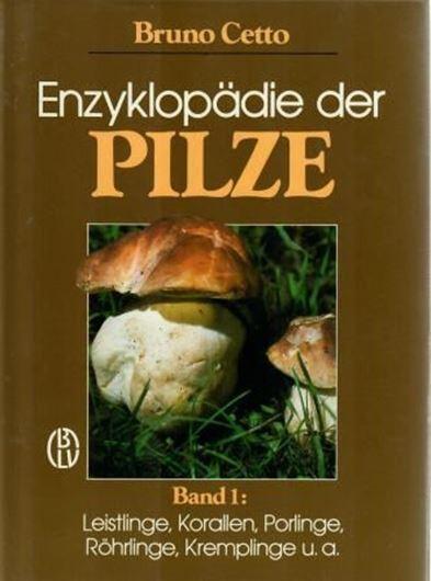 Enzyklopädie der Pilze. 4 Bde. 1987 - 1989. Farbtafeln. 2758 S. 8vo. Hardcover.