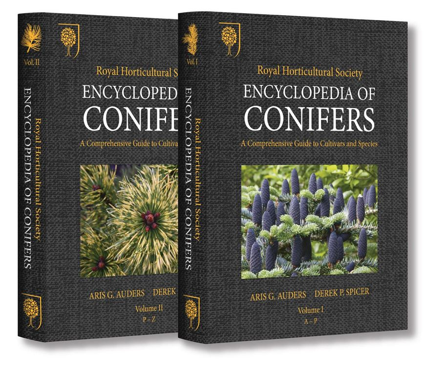 RHS - Encyclopedia of Conifers. A comprehensive guide to cultivars and species. 2 vols. 2012. approx. 5.000 col. photogr. 1500 p. 4to. Hardcover.