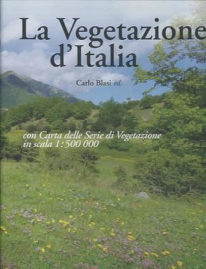 La Vegetazione d'Italia. 2010. 1 col. map on 3 sheets (each 95 x 139 cm, folded to 25 x 30 cm). 538 p. 4to. Hardcover.
