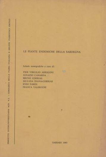 Le Piante Endemiche della Sardegna. 1983. illus. 67 p. gr8vo. Paper bd. - In Italian