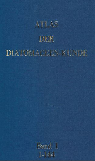 Begründet von Adolf Schmidt,fortgesetzt von Martin Schmidt, Friedrich Fricke, Heinrich Heiden, Otto Müller und Friedrich Hustedt. Series I-X (=all published). Hefte 1-105, 109-120 enthaltend die Tafeln 1-420,433-480. Leipzig/Berlin 1874-1959. (Second reprinted edition, 1984). In 3 loose leaf-binders, 30 x 42 cm.- With introduction by Dr.Kalbe, and including the 'Index to Atlas der Diatomaceenkunde