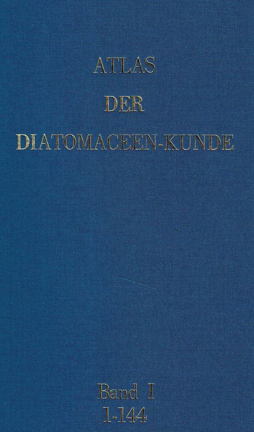 Begründet von Adolf Schmidt,fortgesetzt von Martin Schmidt, Friedrich Fricke, Heinrich Heiden, Otto Müller und Friedrich Hustedt. Series I-X (=all published). Hefte 1-105, 109-120 enthaltend die Tafeln 1-420,433-480. Leipzig/Berlin 1874-1959. (Second reprinted edition, 1984). In 3 loose leaf-binders, 30 x 42 cm.- With introduction by Dr.Kalbe, and including the 'Index to Atlas der Diatomaceenkunde